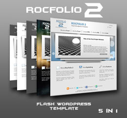 RocFolio 2 Flash Wordpress Template