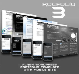 RocFolio 3 Flash Wordpress Portfolio Template